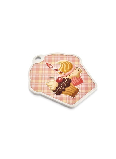 Bayev SC-2353 Cupcake Ahşap Kesim Panosu Renkli